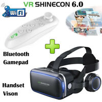 Virtual Reality VR 3D TV Glasses Headset +Remote Gamepad Goggles For Smart Phone