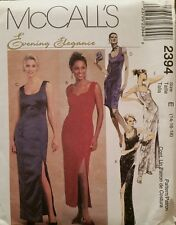 2394 Uncut McCall's Sewing Patterns For Misses' Dresses in 3 Lengths Size 14-18