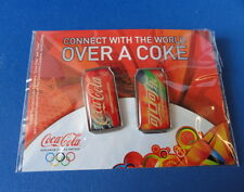 (2) Special Edition Coca Cola Can Shape Olympic Pins - WOW -