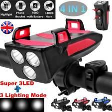 4 in 1 Bicycle Light | Phone Holder | Bike Horn | 4000mAh Power Bank Waterproof