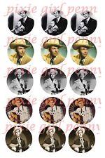 Hank Williams Sr Country Music Legend 15 Precut bottle Cap images