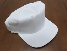 Vintage Cobra Caps Snapback Hat White Adult Plain Baseball Cotton NOS