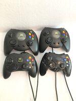 Original Xbox 4 Controller Lot FOR PARTS REPAIR 3 Oem