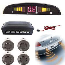 Dark Gray Reversing Parking Sensor Car 4 Sensors Audio Buzzer Alarm