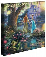 Thomas Kinkade Wrap Princess and the Frog 14 x 14 Wrapped Canvas Disney