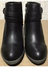 Size 8 Black RocketDog Womens Ladies Girls Ankle Boots Shoes New Genuine