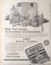 1919 AD(XA2)~UNITED STATES RUBBER CO. USCO KOLD PAK JAR RUBBERS
