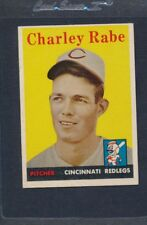 1958 Topps #376 Charley Rabe Reds EX *2012