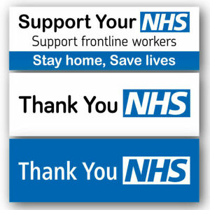 NHS Banner PVC 6ft x 2ft - Printed Outdoor Sign for NHS SUPPORT |LARGE SIZE