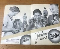 Vintage 1938 Germany Camera Advertising Welta Catalogue Weltur Welti Weltini