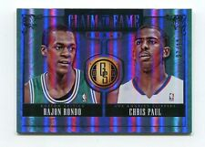 Chris Paul Rajon Rondo 1/10 2013-14 Gold Standard Claim To Fame Duals Platinum