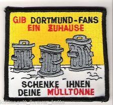 """Anti Dortmund Aufnäher """".ein Zuhause."""" Kutte Weste Fan Patch Block Kurve + neu +"""