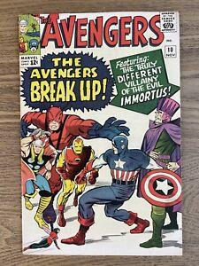 AVENGERS #10 (1964) Beautiful VF+ 1st Immortus (Q) See Description Loki! Kang!