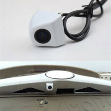 Metal Wide Angle HD Front View Parking Camera White Screw On for Car Backup Cam