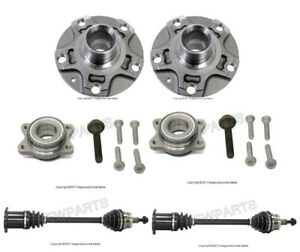 For Audi A4 Set of 2 Front Auto Trans. Axle Shaft & Wheel Hubs w/ Bearings