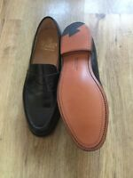 Crockett &Jones mens shoes size 8 Boston black cavalry calf leather sole