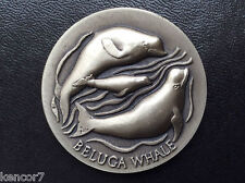 Wittnauer Mint Beluga Whale Silver Medal Longines Endangered Wildlife A1053