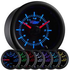52mm GlowShift Black 7 Color Analog Clock Gauge - GS-C718