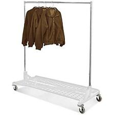 Only Hangers Commercial Grade Rolling Z Rack w/ Bottom Storage Shelf