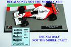 DECALS Ayrton Senna 1993 McLaren MP 4/8 Marlboro 1:43 Formula 1 Car Collection