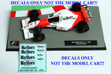 DECALS Ayrton Senna 1993 McLaren MP 4/8 Marlboro 1:43 Formula 1 Car Collection