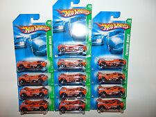 13) HOTWHEELS HUGE LOT TREASURE T HUNT Orange Mega Thrust 2007 K7616 Set RARE @@