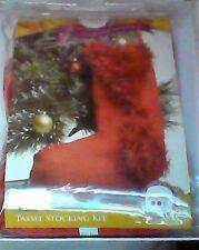 Christmas Stocking Knitting Kit - Red Tassel Stocking Kit - NEW