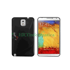 CUSTODIA MORBIDA COVER TPU CASE SAMSUNG GALAXY NOTE 3 N9000 NERO BLACK +++NEW