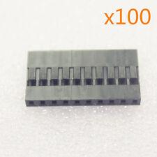 100Stk 2.54mm 10P Pitch Dupont Jumper Wire Kabel Drahtbrücken Housing Stecker