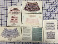 SIX ASSORTED SMOCKING PLATES PATTERNS
