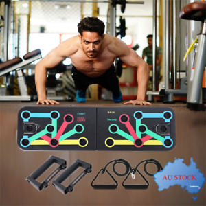Push Up Board with Resistance Band Fitness Gym Exercise Strength Training Yoga