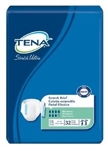 TENA Brief, Stretch Ultra 2X-LARGE, Tab Closure Adult Diaper, 61390 - Pack of 32