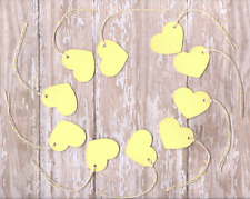 50 Yellow Heart Shaped Gift Tags - Wedding Party Favor Valentines Price Labels
