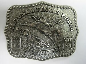 National Finals Rodeo Hesston 1986 NFR Adult Cowboy Buckle, Vintage