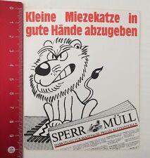 Aufkleber/Sticker: Sperr-Müll Kostenlose Private Kleinanzeigen (20041699)