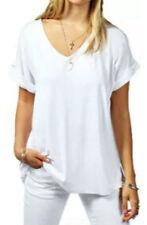 T-shirt, maglie e camicie da donna bianchi viscosi taglia XL