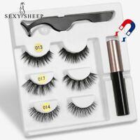 5 Magnet Eyelash Magnetic Liquid Eyeliner& Magnetic False Eyelashes & Tweezer