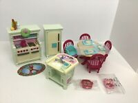 Loving Family Dollhouse Home for the Holidays/Christmas Dining Table Kitchen Set