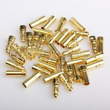 20 Pairs 3.5mm Gold Bullet Connector Plug Male Female for RC Battery ESC Motor