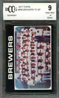 Milwaukee Brewers Tc Sp Team Card 1971 Topps #698 BGS BCCG 9
