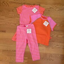 HANNA ANDERSSON girls 110 4-6 Opposite Stripes Playdress capris tee 3-pc set NWT
