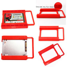 """2.5"""" to 3.5"""" SSD HDD Adapter Mounting Tray Bracket Hard Drive Bay Caddy Plastic"""