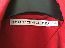 Tommy Hilfiger Women Trench Belt Coat size S /P Ladies Jacket Red