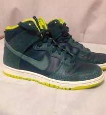 Nike women's  high top sneakers  8.5m  Teal & neon green