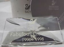 Boxed Swarovski Crystal Title Plaque for SCS 'Fabulous Creatures' Editions