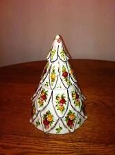 Royal Albert Old Country Roses Christmas Tree Treat Jar/Cookie Jar, BEAUTIFUL!