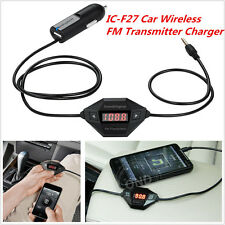 New IC-F27 In Car Universal LED Wireless FM Transmitter with USB Car Charger