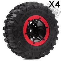 "2.2"" Beadlock Wheel Rim Rubber Tyre Tire for 1/10 RC Axial SCX10 II Traxxas TRX4"