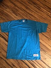 vintage 80s JERZEES Turquoise  BLANK 50/50 USA MADE t-shirt L