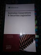 Australian Corporations and Security Legislation Vol 1 - 2017 CCH Australia Ltd